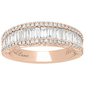 Neil Lane 14ct Rose Gold 1.15ct 3 Row Ring - Product number 5022037