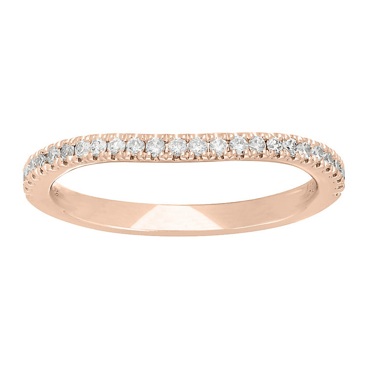 Neil Lane 14ct Rose Gold 20Pt Diamond Shaped Band - Product number 5022444