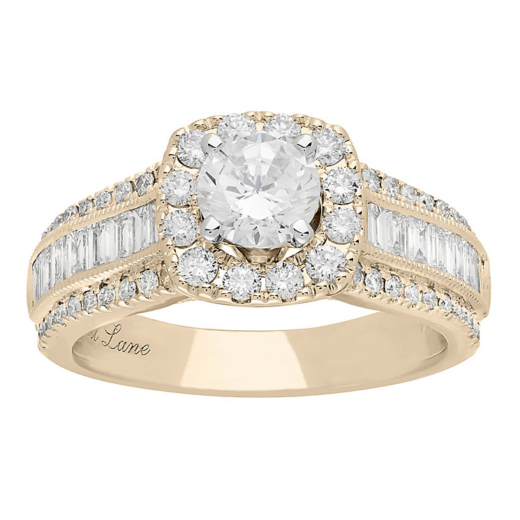 Neil Lane 14ct Yellow Gold 1.70ct Diamond Halo Ring - Product number 5022584