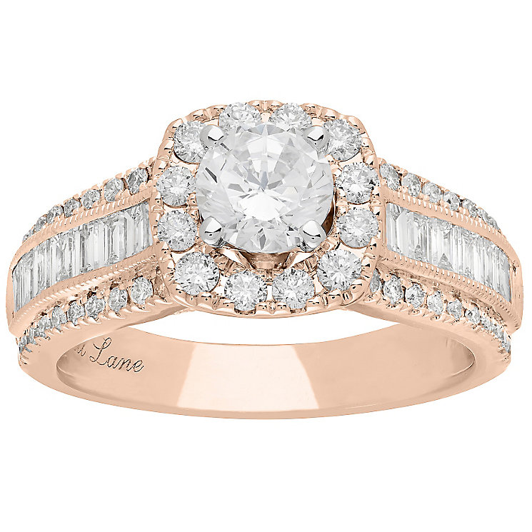 Neil Lane 14ct Rose Gold 1.70ct Diamond Halo Ring - Product number 5022746