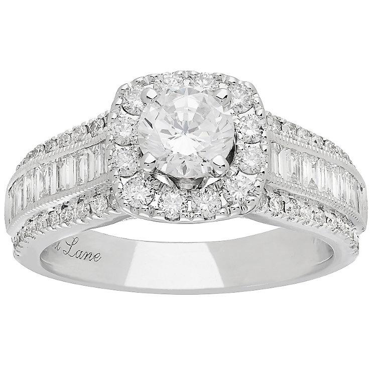 Neil Lane Platinum 1.70ct Diamond Halo Ring - Product number 5022959