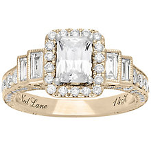 Neil Lane 14ct Yellow Gold 2.09ct Diamond Halo Ring - Product number 5024021