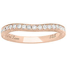 Neil Lane 14ct Rose Gold 0.30ct Diamond Wedding band - Product number 5024617