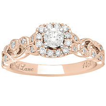 Neil Lane 14ct Rose Gold 0.54ct Diamond Vine Ring - Product number 5025044