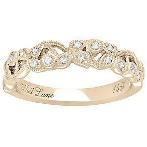 Neil Lane 14ct Yellow Gold 0.21ct Diamond Vine Wedding Ring - Product number 5025451
