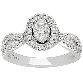 Neil Lane Platinum 0.62ct Halo Twist Ring - Product number 5027004