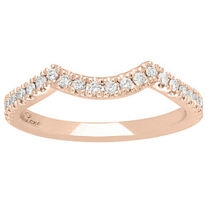 Neil Lane 14ct Rose Gold 1/5ct Wedding Band Ring - Product number 5027276