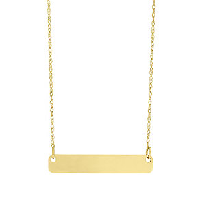 """9ct Gold Plain Bar Necklace With 18"""" Chain - Product number 5029554"""