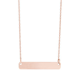 """9ct Rose Gold Plain Bar Necklace With 18"""" Chain - Product number 5029562"""