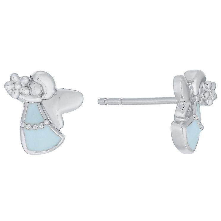 Children's Silver & Blue Enamel Fairy Dust Stud Earrings - Product number 5029732