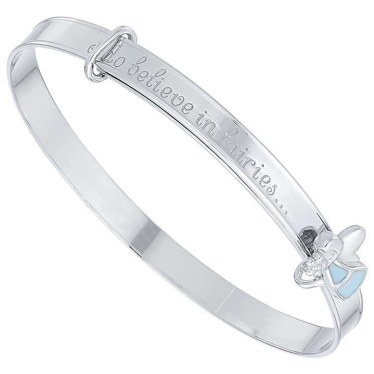 Children's Silver & Blue Enamel Fairy Dust Expander Bangle - Product number 5029775