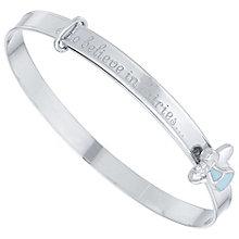 Children's Silver & Blue Enamel Fairy Dust Expander Bangle - Product number 5029775