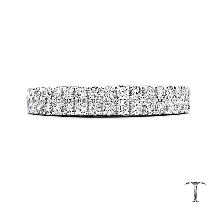 Tolkowsky 18ct Platinum 1/2ct Diamond Two Row Band - Product number 5033810
