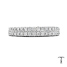 Tolkowsky 18ct Platinum 0.50ct Diamond Two Row Band - Product number 5033810