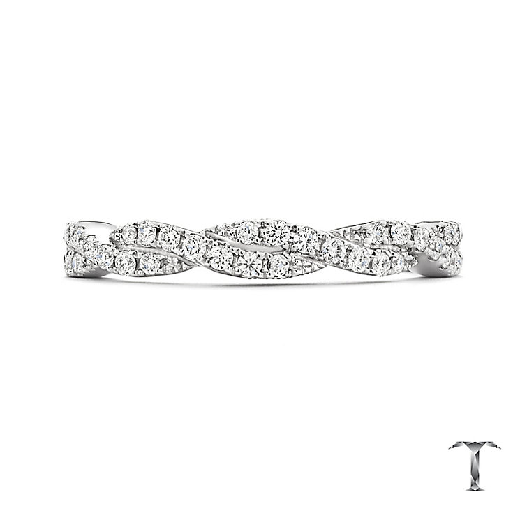 Tolkowsky Platinum 0.25ct Diamond 2 Row Twist Ring - Product number 5033969