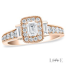 Vera Wang 18ct rose gold 0.95CT diamond engagement ring - Product number 5038014