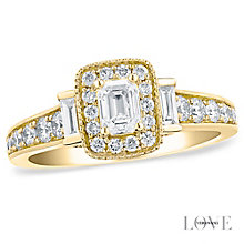Vera Wang 18ct yellow gold 0.95CT diamond engagement ring - Product number 5038189