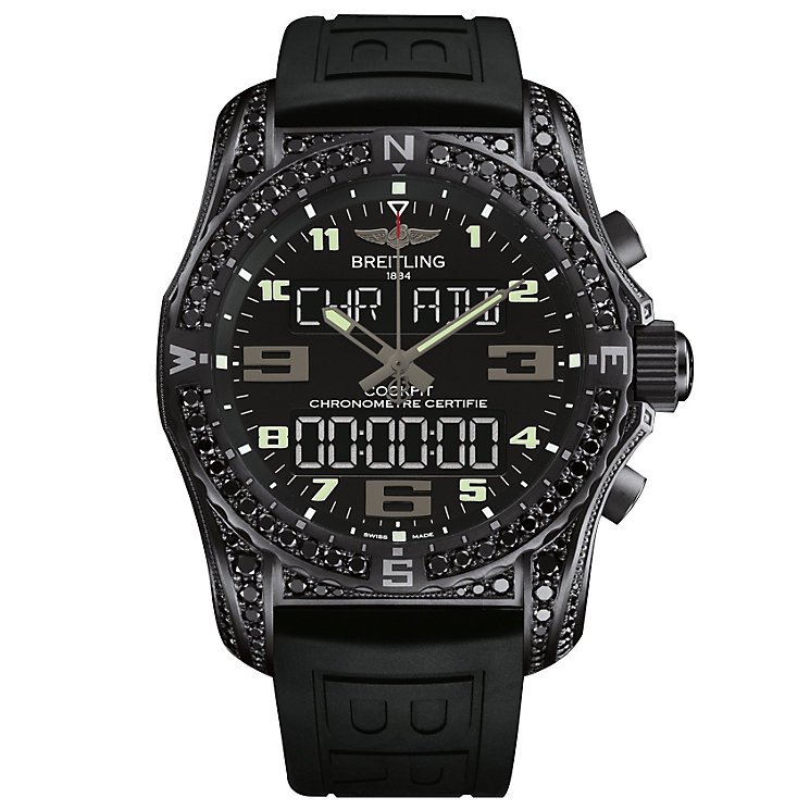 Breitling Cockpit B50 Men's Ion Plated Strap Watch