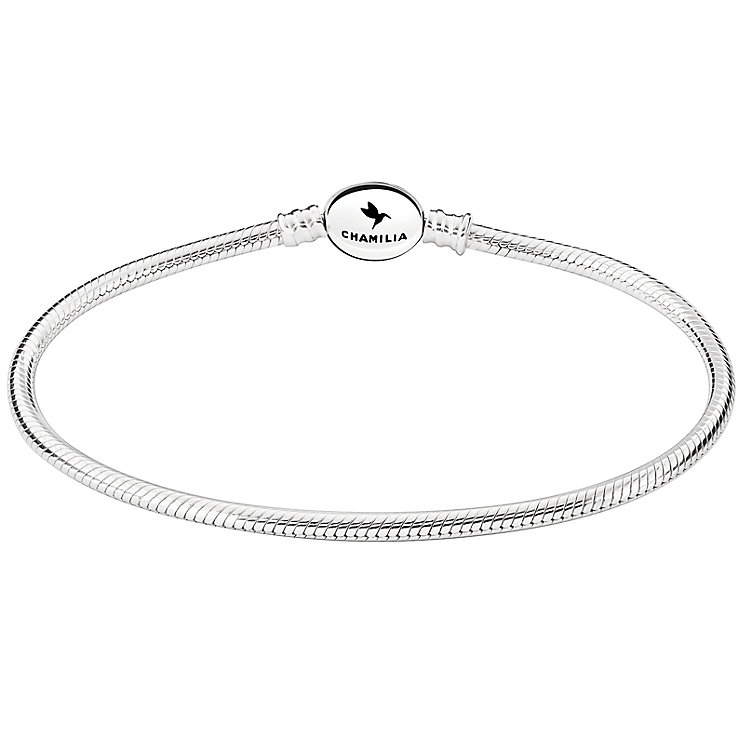 Chamilia Sterling Silver Oval Snap Bracelet 8.7 Inch - Product number 5042801