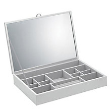 White Jewellery Box With Charm Layout - Product number 5044669
