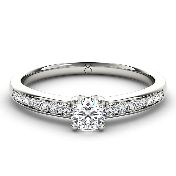 The Diamond Story Platinum 2/3 carat diamond ring - Product number 5045452