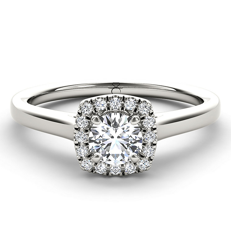The Diamond Story Platinum 1/3 Carat Diamond Ring