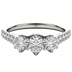 The Diamond Story Platinum 1ct HI I1  Diamond Ring - Product number 5046866
