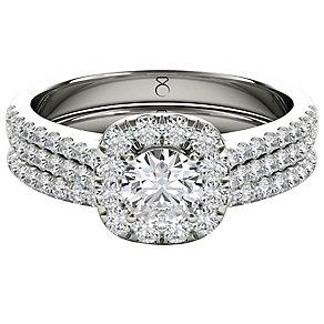 The Diamond Story Platinum 1ct HI I1 Diamond Bridal Set - Product number 5047129