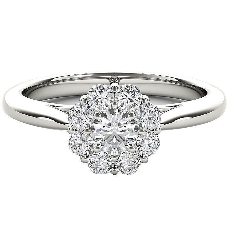 The Diamond Story Platinum 0.50ct HI I1 Diamond Ring - Product number 5048354