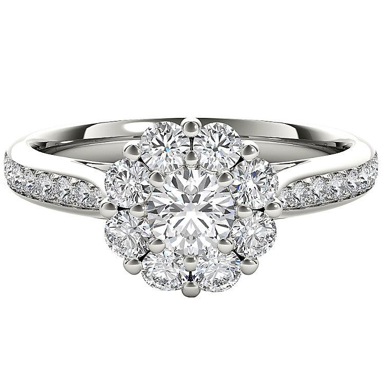 The Diamond Story Platinum 1ct HI I1 Diamond Ring - Product number 5048583
