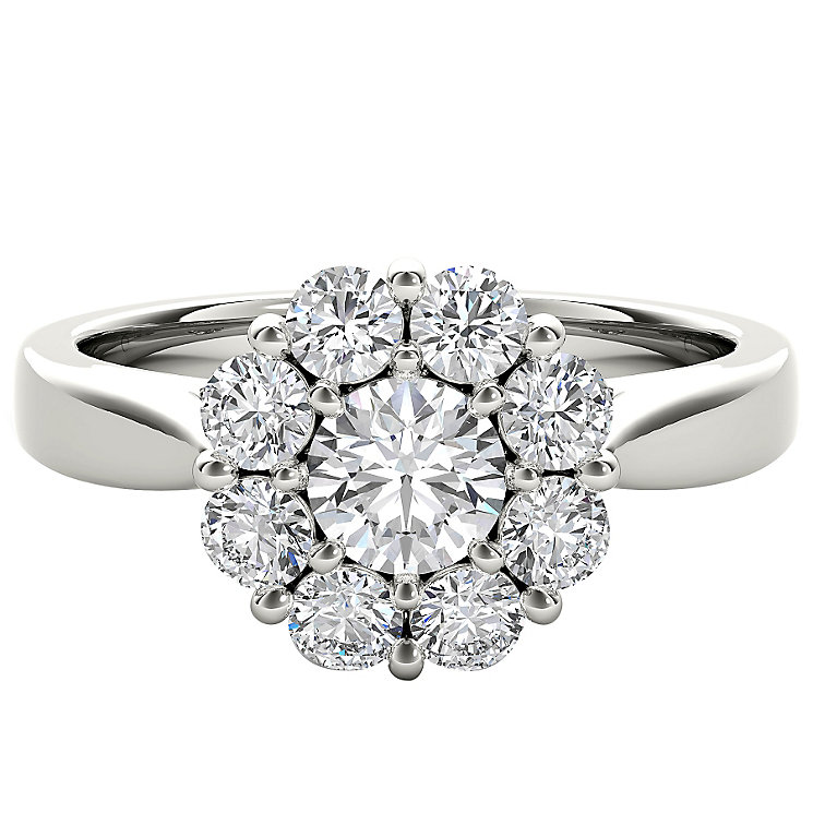 The Diamond Story Platinum 1ct HI I1 Diamond Ring - Product number 5048753
