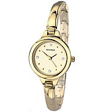 Sekonda Ladies' Champagne Dial Gold-Plated Semi Bangle Watch - Product number 5052262