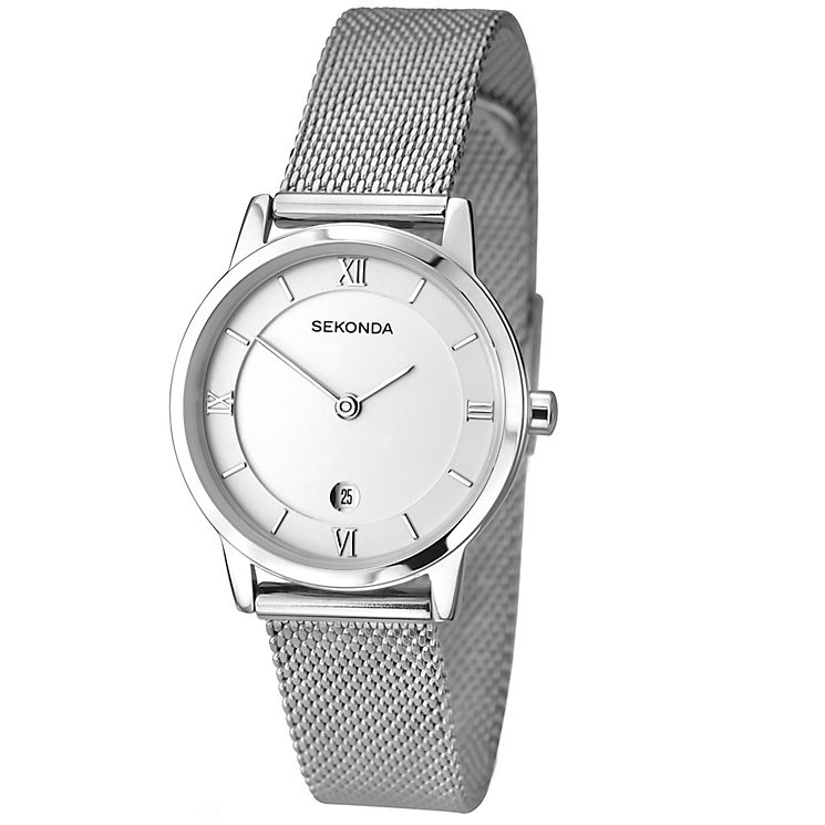 Sekonda Ladies Stainless Steel Mesh Bracelet Watch H Samuel