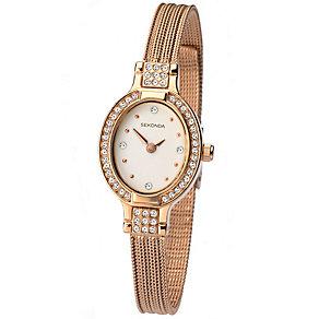 Sekonda Ladies' Rose Gold-Plated Mesh Bracelet Watch - Product number 5052297