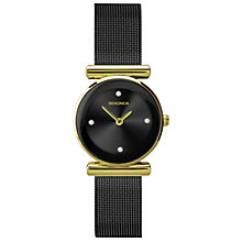 Sekonda Diamond Set Black Ion-Plated Mesh Bracelet Watch - Product number 5052327