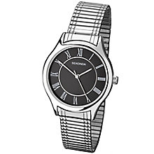 Sekonda Black Dial Stainless Steel Expandable Bracelet Watch - Product number 5052416