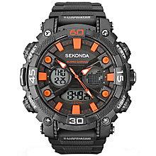 Sekonda Illuminator Black Dial Black Resin Strap Watch - Product number 5052440