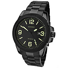 Sekonda Black Dial Black Ion-Plated Bracelet Watch - Product number 5052459