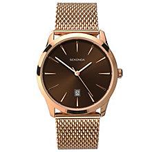 Sekonda Burgundy Dial Rose Gold-Plated Mesh Bracelet Watch - Product number 5052475