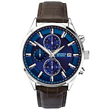 Sekonda Men's Blue Multi Dial Black Leather Strap Watch - Product number 5052521