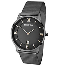 Sekonda Men's Black Ion-Plated Mesh Strap Watch - Product number 5052548