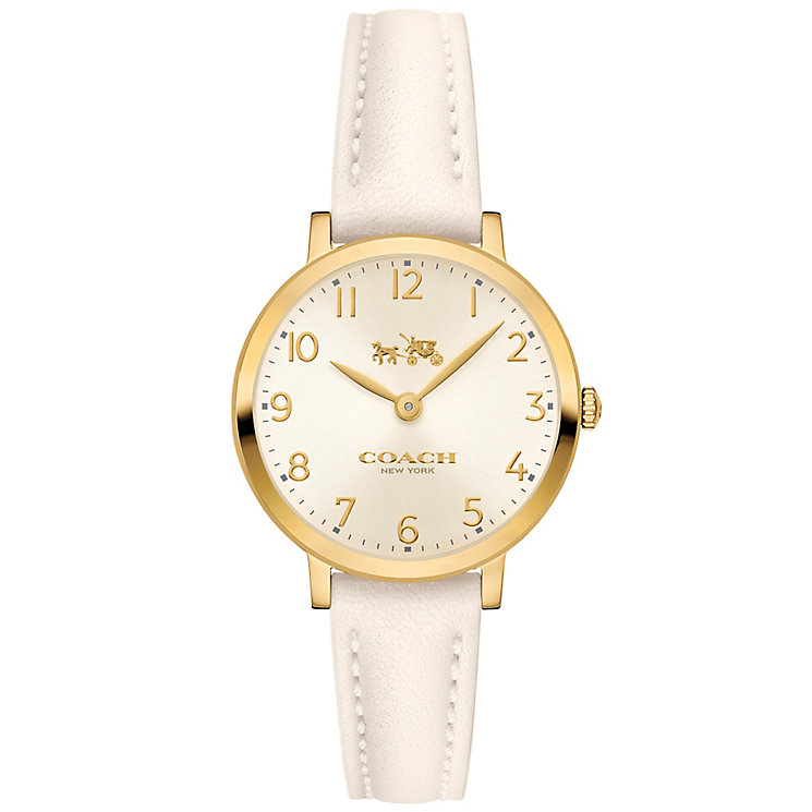 Coach Ladies' Gold Tone Strap Watch - Product number 5053692