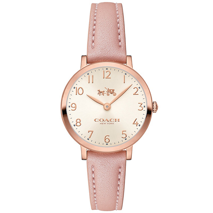 Coach Ladies' Rose Gold tone Strap Watch - Product number 5053706