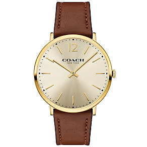 Coach Men's Gold Tone Strap Watch - Product number 5053870