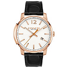 Coach Bleeker Men's Rose Gold Tone Strap Watch - Product number 5053900