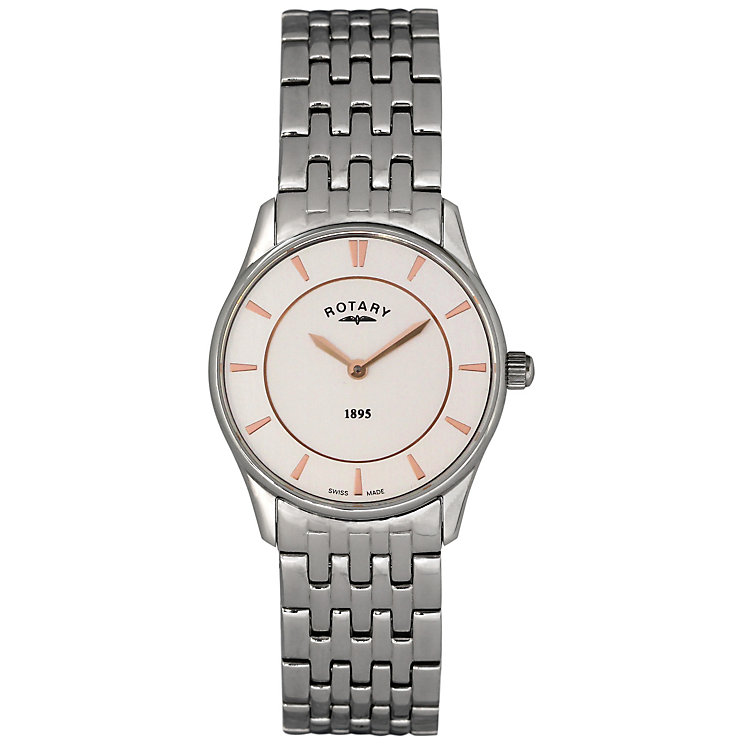 Rotary Ladies' White Dial Stainless Steel Bracelet Watch - Product number 5057027