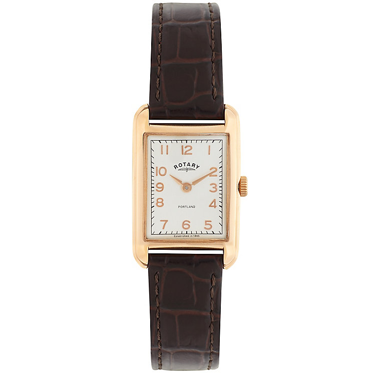 Rotary Ladies' White Dial Brown Leather Strap Watch - Product number 5057248