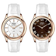 Rotary Revelation Ladies' White Leather Strap Watch - Product number 5057264