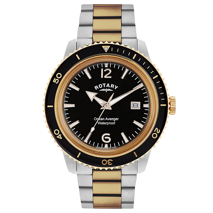 Rotary Ocean Avenger Men's Stainless Steel Bracelet Watch - Product number 5057418