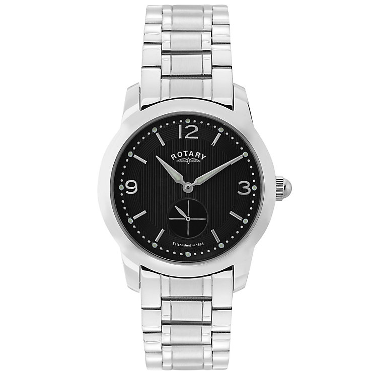 Rotary Men's Black Dial Stainless Steel Bracelet Watch - Product number 5057426